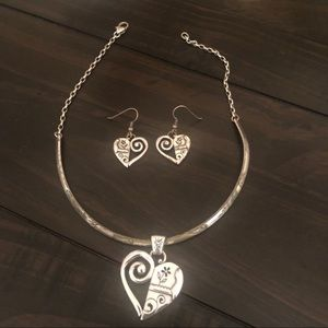 Brighton necklace and matching earrings